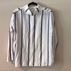 Kensie striped boho top